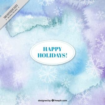 Abstract aquarell hintergrund mit schneeflocken