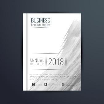 Abstract business broschüre mit grauem aquarell