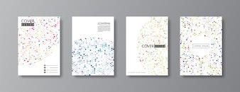 Abstract Cover und Broschüre Design.