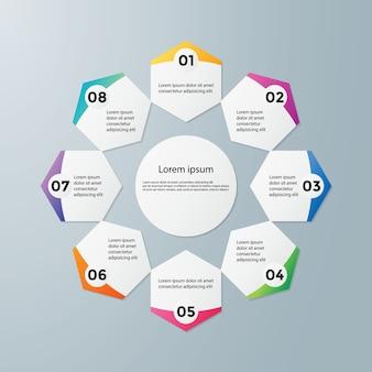 Abstract infografiken anzahl optionen vorlage
