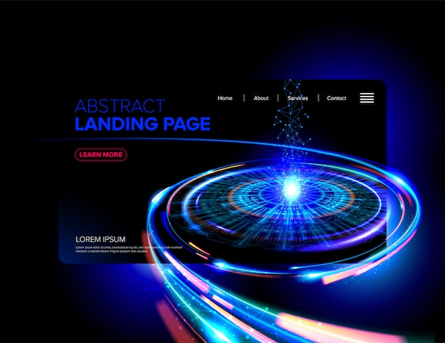 Abstract landing page design