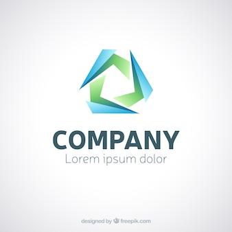 Abstract logo in blaue und grüne farben
