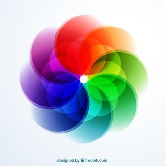 Abstract logo in blumenform