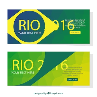 Abstract modern brasilien 2016 banner