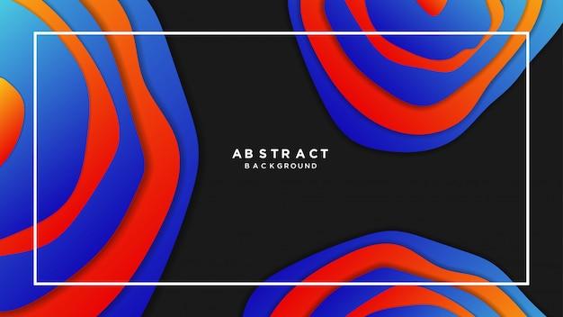 Abstract papercut hintergrund mit farbverlauf