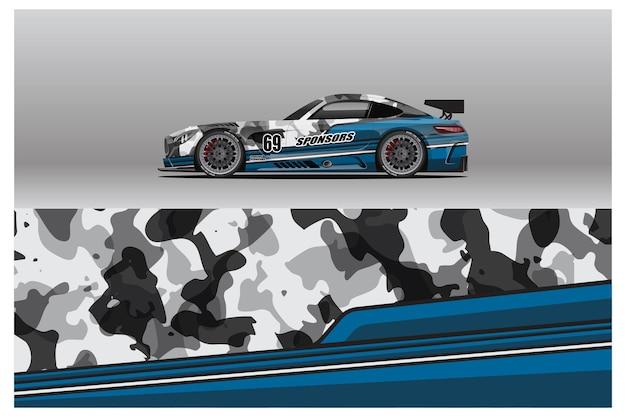Abstract race car wrap sticker design und sporthintergrund für den täglichen gebrauch rennlackierungen oder aufkleber