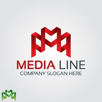Abstract red letter m logo