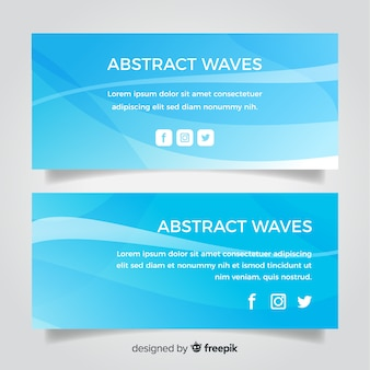 Abstract wellen banner