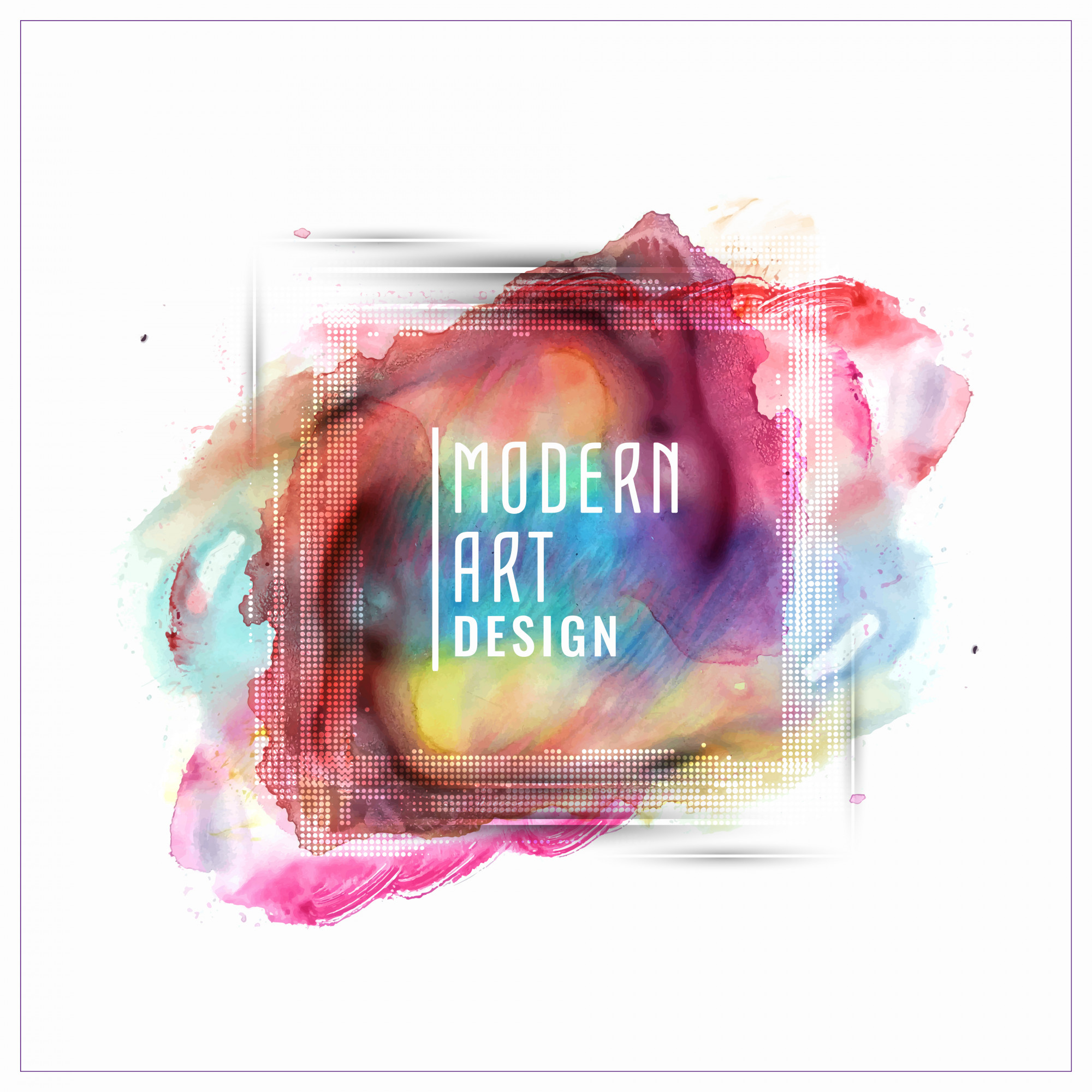Abstractcolorful Aquarell Banner Design