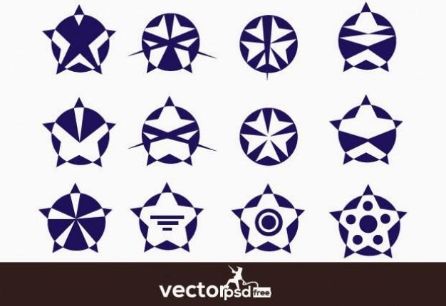 Abstracts symbole design-elemente packen
