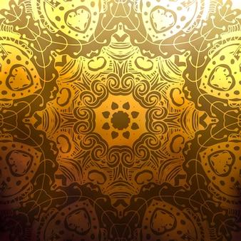 Abstractvector rundes ornament auf unscharfen hintergrund