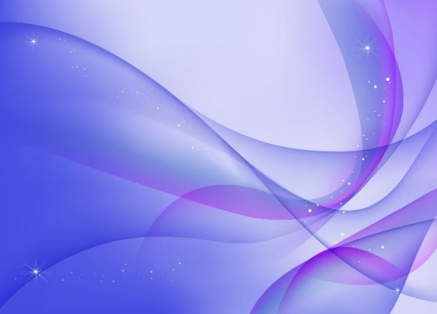 Abstrakt blau lila wellen vektor-hintergrund