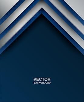 Abstrakt. blau - silberner geometrischer überlappungsformhintergrund. vektor.