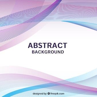 Abstrakt blau und rosa hintergrund, wellig formen