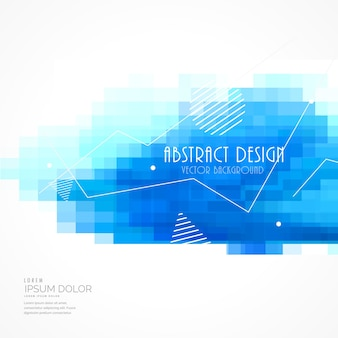 Abstrakt blauen fliesen mosaik-hintergrund mit quadratischen maschen