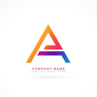 Abstrakt brief ein logo-design