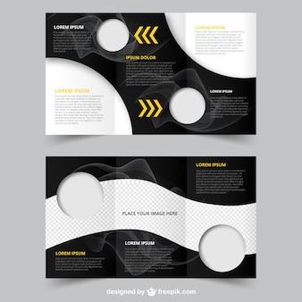 Abstrakt broschüre mit kreisen