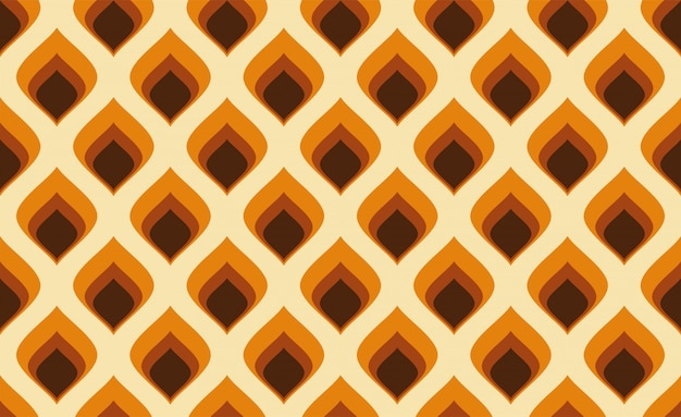 Abstrakt. buntes nahtloses muster der 60er jahre, geometrischer vintage hintergrund des retro-stils.