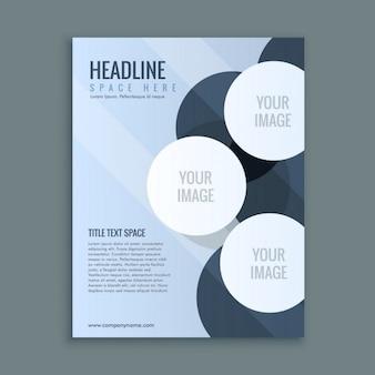 Abstrakt business broschüre seitenlayout