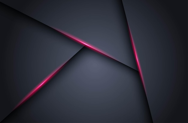 Abstrakt dunkel mit rosa heller linie schatten dreieck leerraum schichten hintergrund
