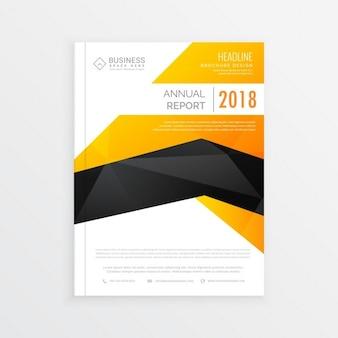 Abstrakt, gelb, schwarz-weiß-magazin broschüre seitendesign