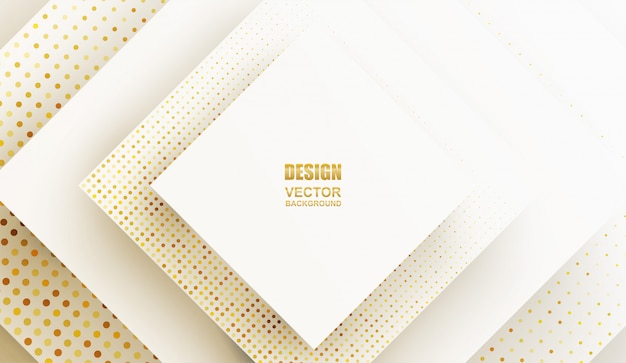 Abstrakt. geometrische form weißgold hintergrund. licht und schatten .