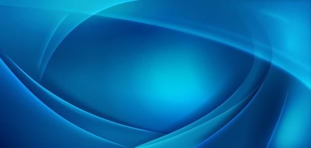 Abstrakt gewellt mit blauer geometrischer form detailliert