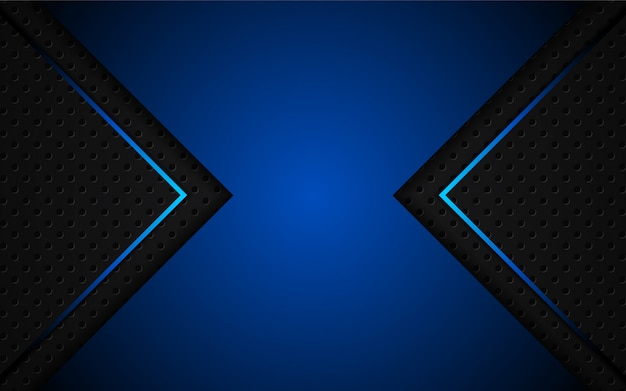 Abstrakt hellblau auf schwarzem hintergrund