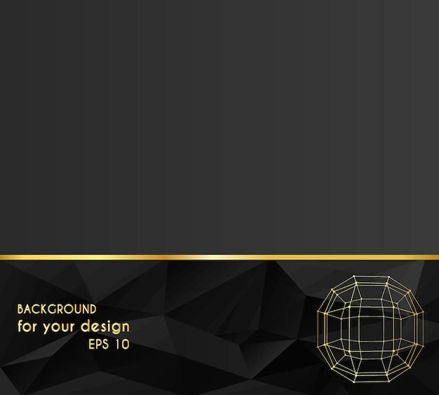 Abstrakt kreativkonzept vektor-hintergrund ball der linien mit punkten verbunden. briefkopf und broschüre im polygonalen designstil für unternehmen. vektor-illustration eps 10 für ihr design.