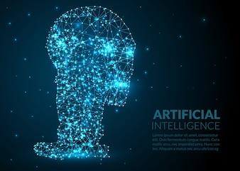 Abstrakt künstliche Intelligenz Illustration