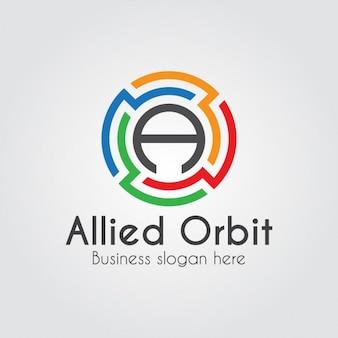 Abstrakt maze letter a logo-vorlage