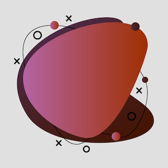 Abstrakt, modern, formen, flüssigkeiten, spritzer, mehrfarbig, rosa, rot, bordeauxrote gradienten-hintergrund-vektor-illustration