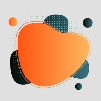 Abstrakt, modern, formen, flüssigkeiten, spritzer, multicolor, schwarz, rot-orange, orange, aquamarin-vektor-illustration.