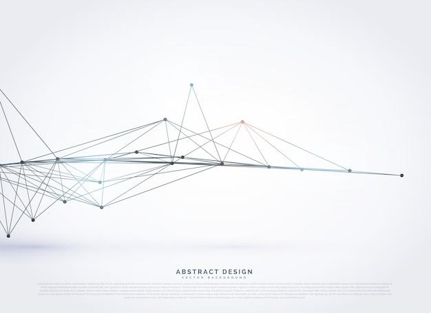 Abstrakt polygonalen drahtgitter mesh hintergrund design