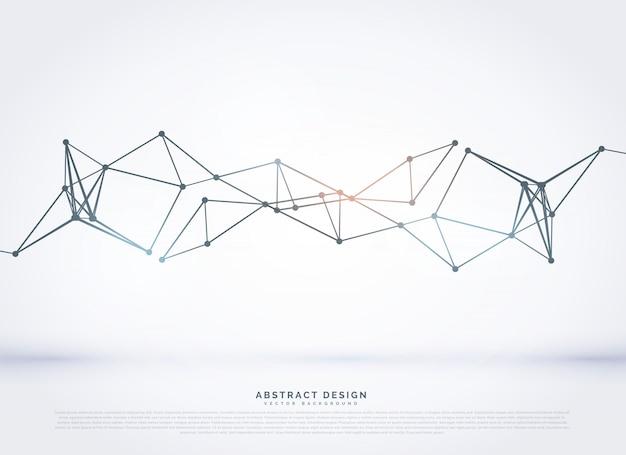 Abstrakt polygonalnetz diagramm-design-hintergrund