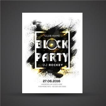 Abstrakt poster-vorlage mit goldenen details