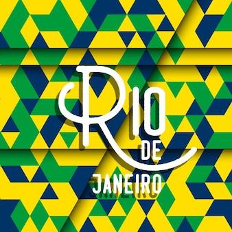 Abstrakt rio de janeiro hintergrund mit einem geometrischen design