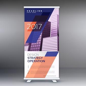 Abstrakt roll-up-banner oder standee vektor-design