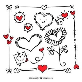 Abstrakt romantischen kritzeleien