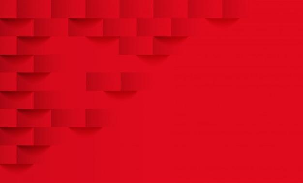 Abstrakt. rotes quadrat geometrischen hintergrund.