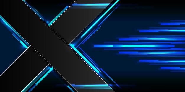 Abstrakt sci-fi hintergrund konzept x symbol hallo tech