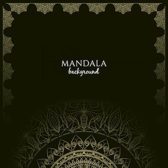 Abstrakt stilvolle mandala hintergrund