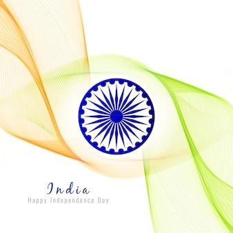 Abstrakt wellig indischen flagge thema hintergrund