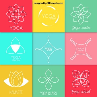 Abstrakt yoga logos