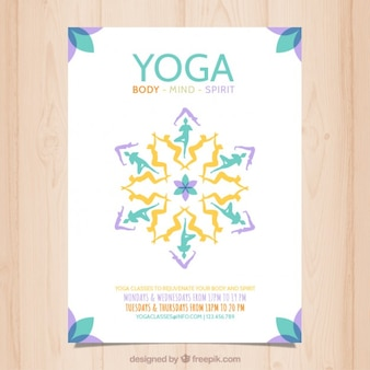 Abstrakt yoga plakat