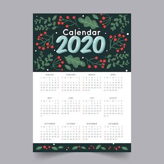 Abstrakte 2020 kalendervorlage