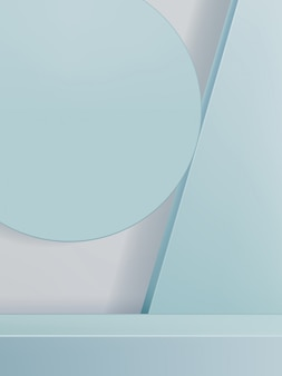 Abstrakte 3d-illustration minimaler geometrischer studio-schuss-hintergrund für produktanzeige