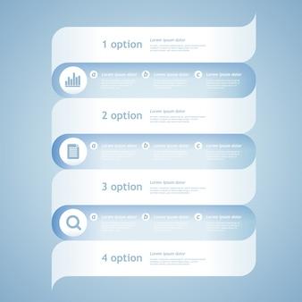 Abstrakte 3d-papier-infografiken