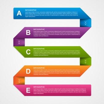 Abstrakte 3d-papier-infografiken.