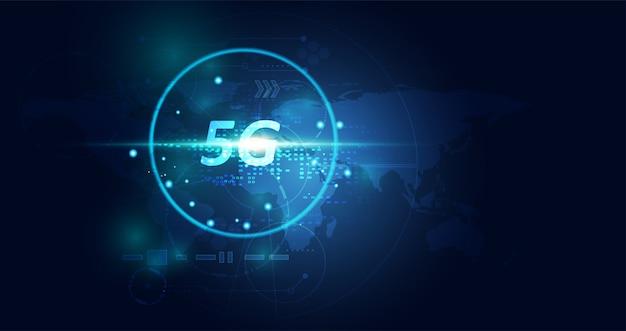 Abstrakte 5g drahtlose internet wifi netzwerktechnologie